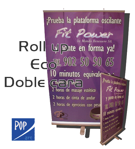 ROLLUP 150X200 DOBLE CARA