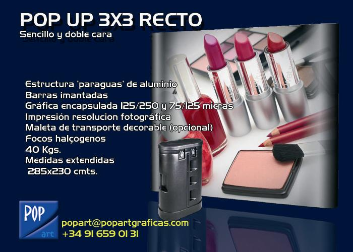 POP UP EXPOSITOR DISPLAY CON MALETA
